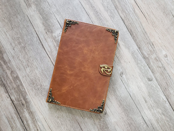 Horus eye ipad leather case, handmade ipad cover for Apple MN1025-icasecollections