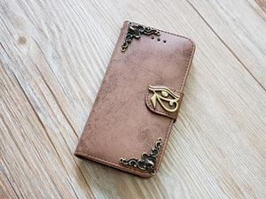 Horus Eye phone leather wallet removable case cover for Apple / Samsung MN0828-icasecollections