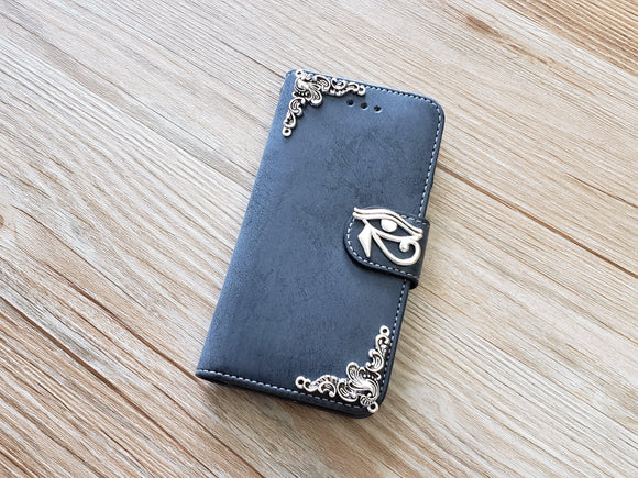 Horus eye phone leather wallet removable case cover for Apple / Samsung MN0900-icasecollections