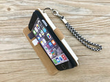 Light bulb leather wallet handmade phone case cover for Apple / Samsung MN0943-icasecollections