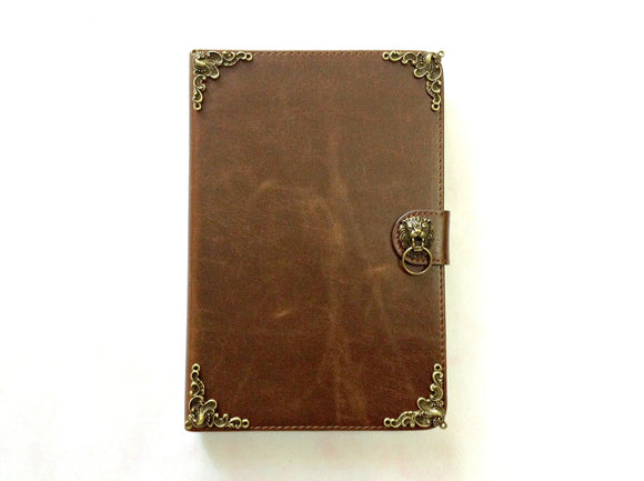 Lion iPad handmade leather stand case for Apple MN0272-icasecollections