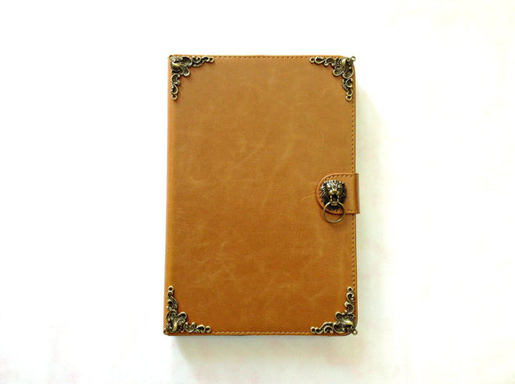 Lion iPad handmade leather stand case for Apple MN0300-icasecollections