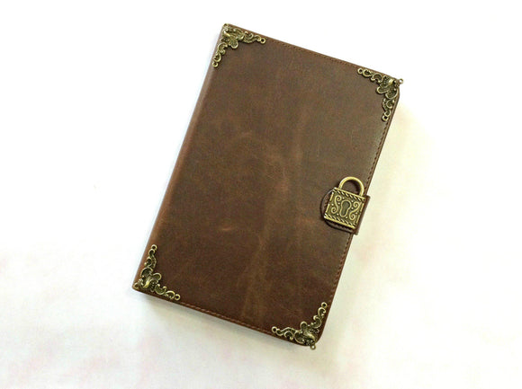Lock iPad handmade leather stand case for Apple MN0284-icasecollections