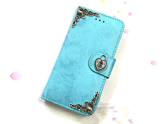 Lock phone leather wallet stand removable case cover for Apple / Samsung MN0624-icasecollections