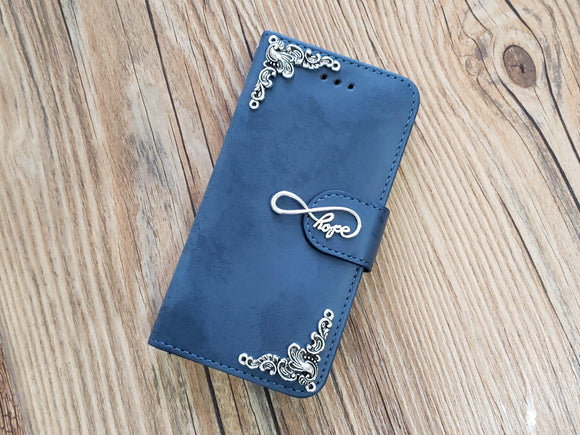 Love Infinity Symbol phone leather wallet stand removable case cover for Apple / Samsung MN0774-icasecollections