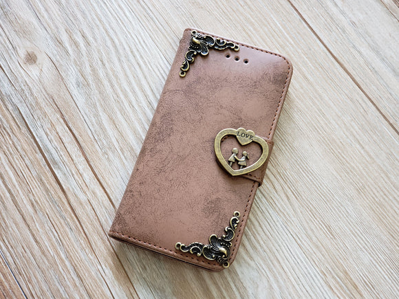Love phone leather wallet removable case cover for Apple / Samsung MN0824-icasecollections