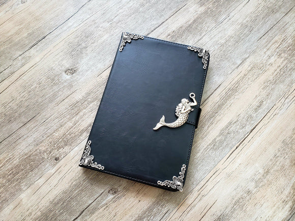 Mermaid ipad leather case, handmade ipad cover for Apple MN0964-icasecollections