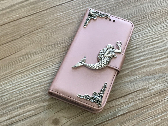 Mermaid removable phone leather wallet case for Apple / Samsung MN0044-icasecollections