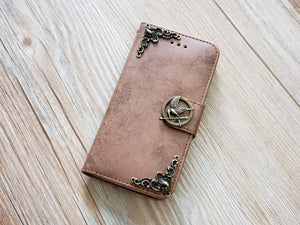 Mockingjay bird phone leather wallet removable case cover for Apple / Samsung MN0829-icasecollections