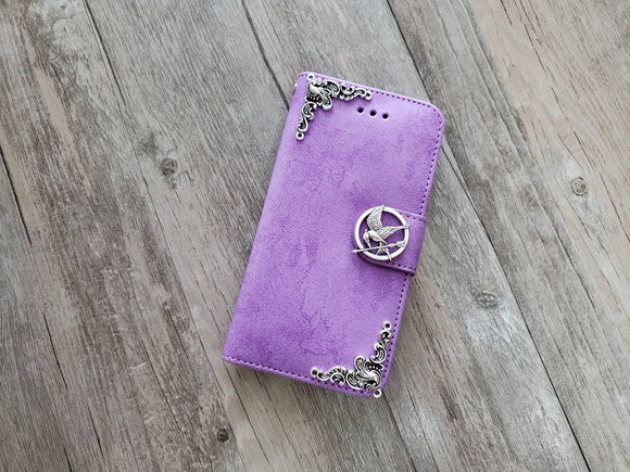 Mockingjay bird phone leather wallet stand removable case cover for Apple / Samsung MN1013-icasecollections