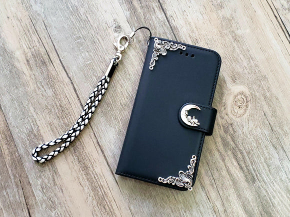 Moon phone leather wallet removable case cover for Apple / Samsung MN1032-icasecollections