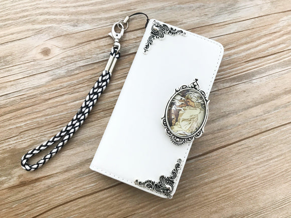 Mucha Women leather wallet handmade phone case cover for Apple / Samsung DC039-icasecollections