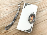 Mucha Women leather wallet handmade phone case cover for Apple / Samsung DC040-icasecollections