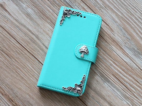 Mushroom phone leather wallet removable case cover for Apple / Samsung MN0815-icasecollections
