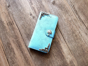 Mushroom phone leather wallet removable case cover for Apple / Samsung MN1187-icasecollections