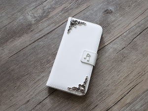 Music note leather wallet handmade phone case cover for Apple / Samsung MN0942-icasecollections