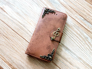 Music skull phone leather wallet removable case cover for Apple / Samsung MN0836-icasecollections
