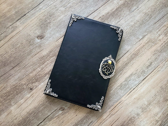 Octopus ipad leather case, handmade ipad cover for Apple MN0981-icasecollections