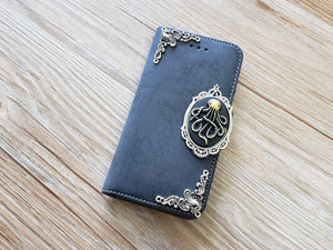 Octopus phone leather wallet removable case cover for Apple / Samsung MN0887-icasecollections