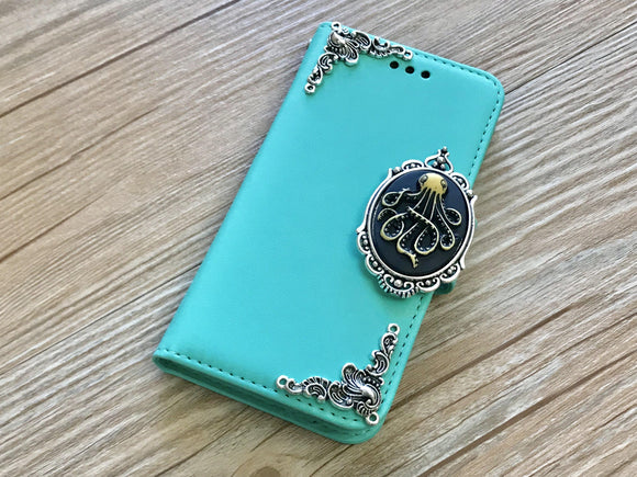 Octopus removable phone leather wallet case for Apple / Samsung MN0226-icasecollections