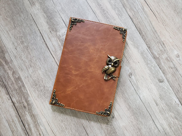 Owl ipad leather case, handmade ipad cover for Apple MN1008-icasecollections