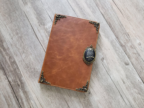 Owl ipad leather case, handmade ipad cover for Apple MN1047-icasecollections