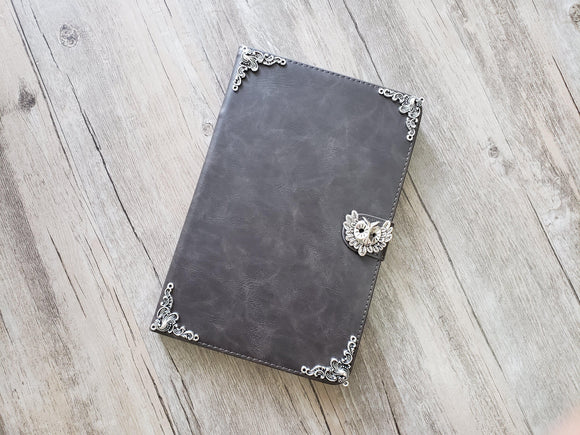 Owl ipad leather case, handmade ipad cover for Apple MN1105-icasecollections