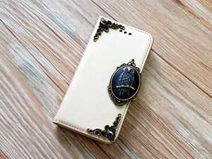 Owl phone leather wallet removable case cover for Apple / Samsung MN0855-icasecollections