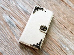Owl phone leather wallet removable case cover for Apple / Samsung MN0861-icasecollections