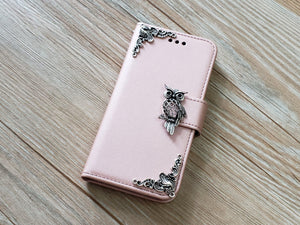 Owl phone leather wallet removable case cover for Apple / Samsung MN0919-icasecollections