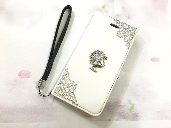 Peacock leather wallet handmade phone case cover for Apple / Samsung MN0559-icasecollections