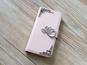 Peacock phone leather wallet removable case cover for Apple / Samsung MN0911-icasecollections