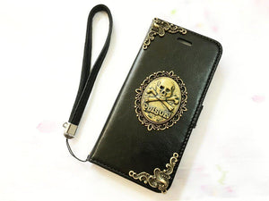 Poison handmade phone leather wallet case for Apple / Samsung MN0066-icasecollections