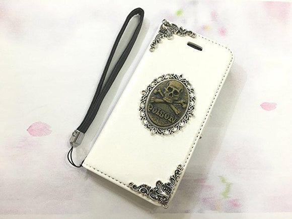 Poison leather wallet handmade phone case cover for Apple / Samsung MN0555-icasecollections