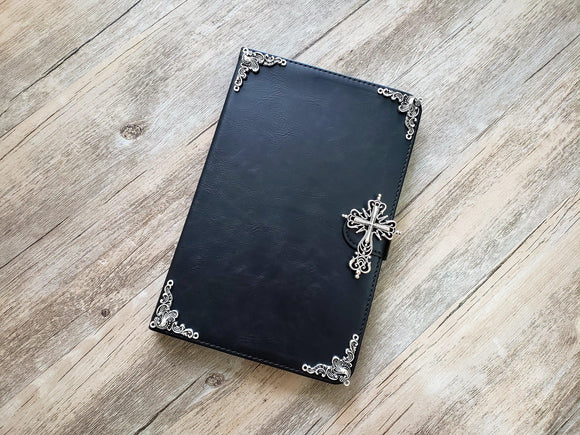 Religious Cross ipad leather case, handmade ipad cover for Apple MN0974-icasecollections