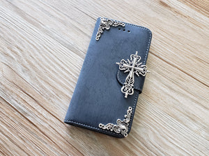 Religious Cross phone leather wallet removable case cover for Apple / Samsung MN0898-icasecollections