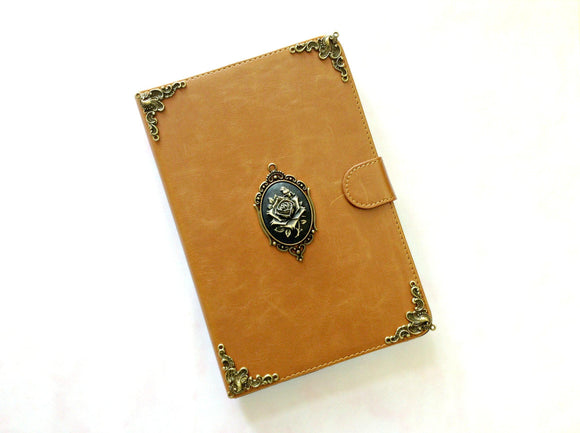Rose iPad handmade leather stand case for Apple MN0310-icasecollections
