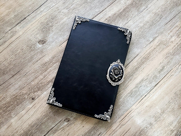 Rose ipad leather case, handmade ipad cover for Apple MN0982-icasecollections