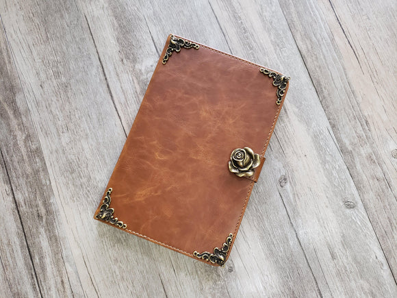 Rose ipad leather case, handmade ipad cover for Apple MN1010-icasecollections