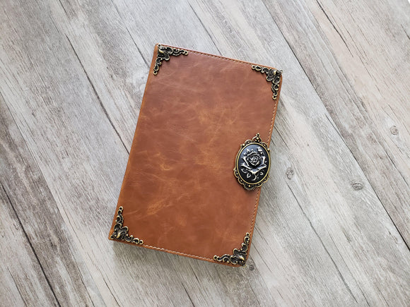 Rose ipad leather case, handmade ipad cover for Apple MN1039-icasecollections