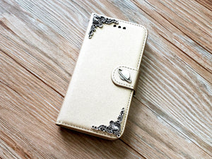 Saturn phone leather wallet removable case cover for Apple / Samsung MN0924-icasecollections