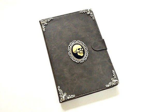 Skull ipad leather case, handmade ipad cover for Apple MN0456-icasecollections
