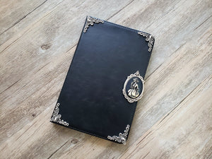 Skull lady ipad leather case, handmade ipad cover for Apple MN0980-icasecollections