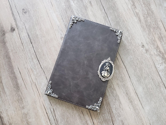 Skull lady ipad leather case, handmade ipad cover for Apple MN1146-icasecollections