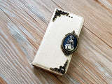 Skull lady phone leather wallet removable case cover for Apple / Samsung MN0852-icasecollections