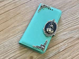Skull lady removable phone wallet case for Apple / Samsung MN0220-icasecollections