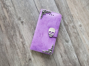 Skull phone leather wallet stand removable case cover for Apple / Samsung MN1026-icasecollections