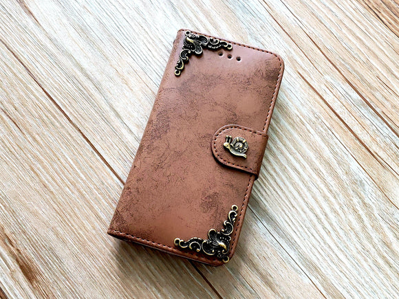 Snail phone leather wallet removable case cover for Apple / Samsung MN0842-icasecollections