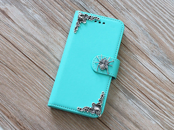 Spider phone leather wallet removable case cover for Apple / Samsung MN0802-icasecollections
