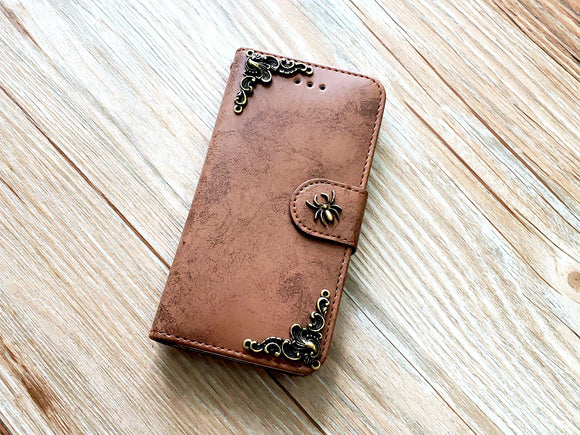 Spider phone leather wallet removable case cover for Apple / Samsung MN0840-icasecollections